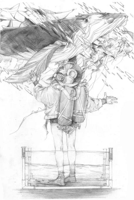 大海手绘铅笔图片大全